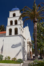 Bell tower of the Catholic church of the Immaculate Conception. Old Town, San Diego. - Photo #26343