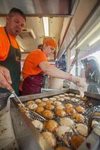 Cooking deep fried oreos at the Iowa State Fair. Des Moines, Iowa. - Photo #33043