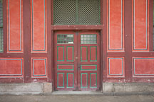 A large set of doors on the grounds of Deoksu Palace in Seoul, South Korea. - Photo #21243