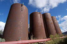 Rusted tanks. Goldfield, Phoenix, Arizona, USA. - Photo #5543