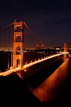 Golden Gate Bridge at night. San Francisco, California, USA. - Photo #11744