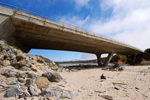 Highway 1 and Pescadero state beach, California, USA. - Photo #4344