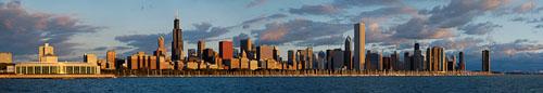 Chicago skyline at sunrise. Chicago, Illinois, USA - Photo #10644