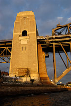Support tower for the Sydney Harbour bridge. Sydney, New South Wales, Australia. - Photo #1444