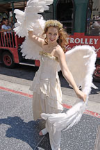 Actress in angel costume outside Grauman's Chinese Theater., Hollywood, California, USA. - Photo #6445
