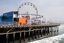 Ferris wheel at Santa Monica Pier. Santa Monica, California, USA. - Photo #3345