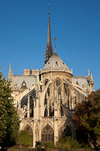 East view of the Notre Dame Cathedral. Paris, France. - Photo #30945