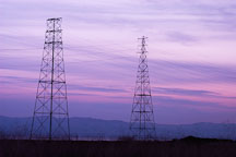 Electricity transmission towers. Palo Alto Baylands Nature Preserve, California. - Photo #2445