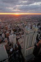 Sunset over Chicago. Chicago, Illinois, USA. - Photo #10745