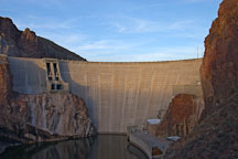 Theodore Roosevelt Dam at sunset. Apache Trail, Arizona, USA. - Photo #5645