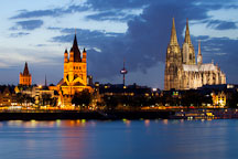 Gross St Martin and the Dom. Cologne, Germany. - Photo #30746