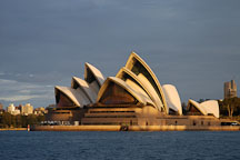 Sydney opera house viewed from the harbour. Sydney, New South Wales, Australia. - Photo #1446