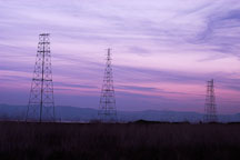 Electricity towers. Palo Alto Baylands Nature Preserve, California. - Photo #2446
