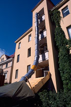 Apartment garbage chute. Helsinki, Finland. - Photo #347