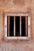 Window bars at the Goldfield jail. Goldfield, Phoenix, Arizona, USA. - Photo #5547