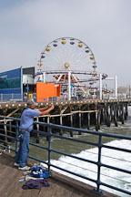 Fisherman at Santa Monica Pier. Santa Monica, California, USA. - Photo #3347