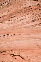 Close-up of sandstone striations. Zion Plateau, Zion NP, Utah. - Photo #19347