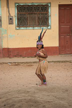 Girl practicing a march for Independence Day. Puerto Maldonado, Peru. - Photo #9048
