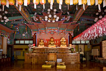 Interior of Donghaksa Temple in Gyeryongsan National Park. Donghaksa is an institute for Buddhist nuns. - Photo #20748