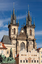 Tyn Church in the Old Town Square. Prague, Czech Republic - Photo #29448
