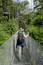 Woman at the Arenal Hanging Bridges. Costa Rica. - Photo #14148