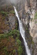 Waterfall (Shelkar Zar) near Taktshang monastery. Paro Valley, Bhutan. - Photo #24149