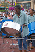 Girl playing steel drums. Baltimore, Maryland, USA. - Photo #3966