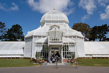 Entrance to the Conservatory of Flowers. Golden Gate Park, San Francisco, California, USA. - Photo #3485