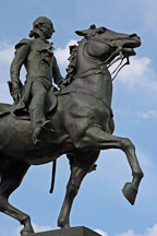 Equestrian statue. Mount Vernon Place, Baltimore, Maryland, USA. - Photo #3913