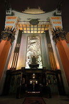 Grauman's Chinese Theatre (Mann's Chinese Theatre) at night. Hollywood, Los Angeles, California, USA. - Photo #3359