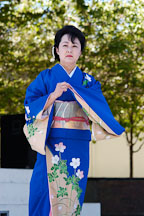Japanese classical dance: Nihon Buyo Kiyonomoto Ryu. Cherry blossom festival, Japantown, San Francisco, California, USA. - Photo #3632