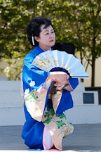 Japanese classical dance: Nihon Buyo Kiyonomoto Ryu. Cherry blossom festival, Japantown, San Francisco, California, USA. - Photo #3633
