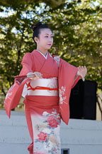 Japanese classical dance: Nihon Buyo Kiyonomoto Ryu. Cherry blossom festival, Japantown, San Francisco, California, USA. - Photo #3635
