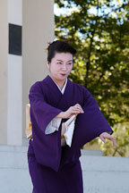 Japanese classical dance: Nihon Buyo Kiyonomoto Ryu. Cherry blossom festival, Japantown, San Francisco, California, USA. - Photo #3644