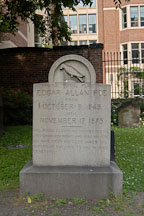 Original burial place of Edgar Allan Poe. Westminster Hall Cemetery, Baltimore, Maryland, USA. - Photo #3920