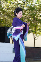 Japanese classical dance: Nihon Buyo Kiyonomoto Ryu. Cherry blossom festival, Japantown, San Francisco, California, USA. - Photo #3628