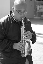 Saxophone player. Santa Monica, California. - Photo #3320