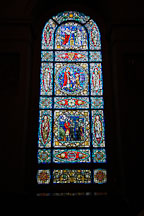 Stained glass. Basilica of the assumption of the blessed virgin Mary. Baltimore, Maryland, USA. - Photo #3887