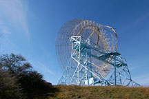 Radio telescope, also known as the Dish. Stanford University, Stanford, California. - Photo #3001