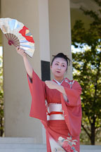 Japanese classical dance: Nihon Buyo Kiyonomoto Ryu. Cherry blossom festival, Japantown, San Francisco, California, USA. - Photo #3636