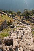 Baths and steps. Machu Picchu, Peru. - Photo #10005