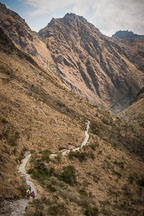 Inca trail winds through the Andes. Peru. - Photo #9805