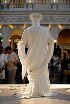 Living statue performs in front of tourists. The Venetian Resort Hotel Casino, Las Vegas, Nevada, USA. - Photo #13405