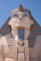 Replica of the Great Sphinx at Giza. Luxor hotel, Las Vegas. - Photo #20005