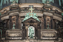 Bronze statues and cross on the Berlin Cathedral. Berlin, Germany. - Photo #30650