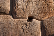 Drainage hole. Sacsayhuaman. Peru. - Photo #9550