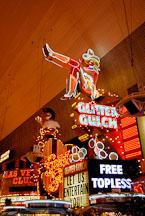 Cowgirl sign. Fremont Street, Las Vegas, Nevada, USA. - Photo #13750