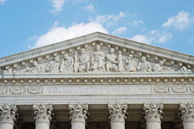 Pediment of the U.S. Supreme Court. Washington, D.C., USA. - Photo #11250