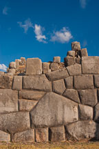 Incan wall constructed without mortar. Sacsayhuaman. Peru. - Photo #9551