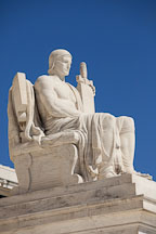 Authority of Law figure at the US Supreme Court building. Washington D.C. - Photo #29152